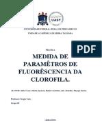 Exemplo de Medidas de Parâmetros de Fluorescência da Clorofila