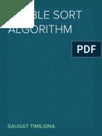 Full Project on BubbleSort Algorithm