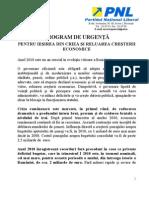 Plan de Urgenta Pt Iesirea Din Criza[1]