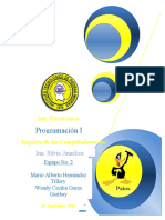 Programacion REPORTE... (Portada e Indice)