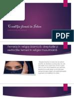 Condiția Femeii În Islam