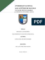 Método de La Matriz Mínima