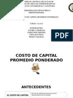 Costo de Capital Promedio Ponderado Final