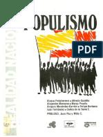 AA. VV. Populismo. Quito, 1992.