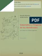 Sistematica y Filogenia de Los Vertebrad