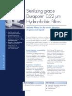 Sterilizing-grade Durapore® 0.22 μm Hydrophobic Filters