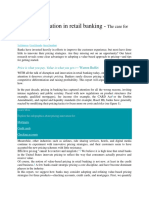Pricing Innovation in Retail Banking