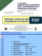 PATOLOGIA Y RECALCE DE CIMENTACIONES