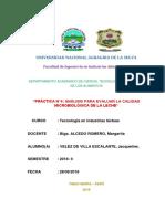 Practica4 Analisis Microbiologico Leche