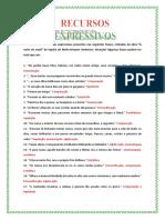 Recursos Expressivos e Orações-correção