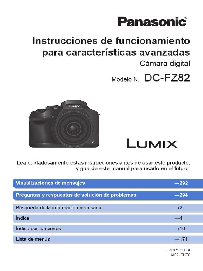 3x Panasonic Lumix DC-FZ82 Protector Pantalla Cristal Película Transparente