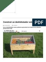 Construir Un Deshidratador Solar _ El Correo Del Sol