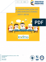 Plan de Intervencion Clima Organizacional 2017 2018