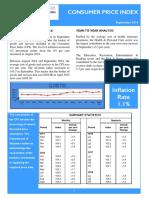 Consumer Price Index - Sept 18