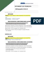 BIBLIOGRAPHIE 2018-19