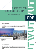 Design of reinforced concrete column