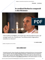 Pédophilie - le cardinal Barbarin comparaît devant la justice des Hommes