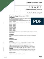 36-133 Programming Problem Error 10105