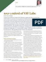 ASHRAE Journal - BAS Control of VAV Labs