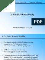 Case Based Reasoning