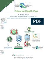 Saudi Arabia 2030 Vision for Healthcare