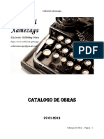 Catalogo de Obras - Editorial Xamezaga - 07-01-2019
