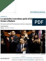 La Oposición Venezolana Apela Al Ejército Para Frenar a Maduro _ Internacional _ EL PAÍS