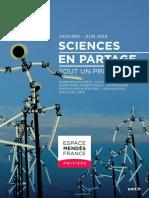 Programme Espace Mendes France Poitiers, janvier 2019