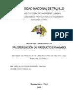 Informe de Laboratorio_pausterización de Producto Envasado