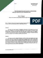 Margono, Dewi A. 2000. Etiologi dan Pencegahan Kasus – Kasus Iatrogenik dalam Perawatan Endodontik. Jakarta  .JKGUI. 2000. 7 (Edisi Khusus) 464-469.pdf