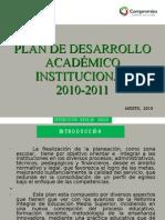 Plan de Desarrollo Academico Institucional