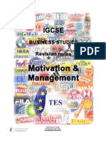 Motivation+&+Management+Revision+Notes