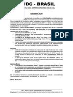 Comunicado Udc Brasil 31082018