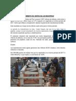 Crecimiento de Envíos de Las Industrias