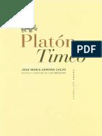Timeo, Platon. Editorial Abada.