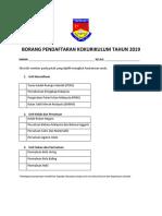 Borang Pendaftaran Kokurikulum Tahun 2019