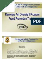 DOC - Inspector General - Fraud Prevention Presentation - 12-2009