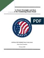 National Procurement Fraud Task Force - Grant Fraud - 2009