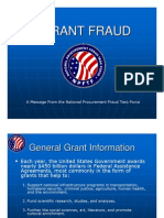 National Procurement Fraud Task Force - Grant Fraud Presentation
