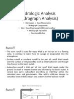 Hydrologic Analysis (Hydrograph Analysis) Week 8(1).ppt