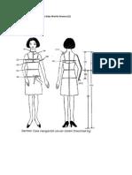 Cara Mengambil Ukuran Pola Baju Wanita Dewasa