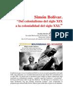 """""""Simón Bolívar"""