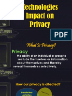 Technologies Impact on Privacy