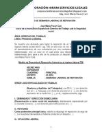 Modelo de Demanda Laboral de Reposición Laboral - Autor José María Pacori Cari