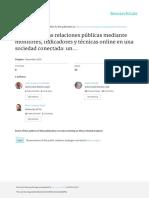 CUENCA-FONTBONA Y OTROS – Medición de Las Relaciones Públicas Mediante Monitores, Indicadores y Técnicas Online en Una Sociedad Conectada Un Estudio Vertical