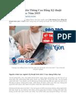 Tuyển Sinh Liên Thông Cao Đẳng Kỹ thuật hình ảnh Y học Năm 2019