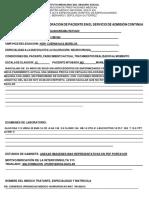 Formulario Resumen Clinico Para Valoracion de Paciente en El Servicio de..