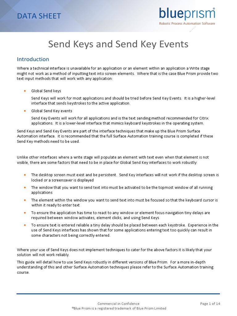 Guide to Send Keys and Send Key Events | Computer Keyboard