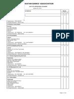 List of Valuators August 30, 2018 Pakistan Banks Association PBA by Asif Sahu 03324346150