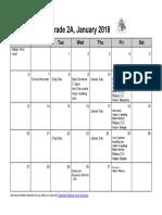 2a january 2019 calendar